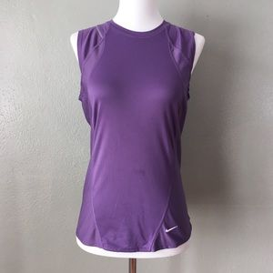 Nike Fit Dry Purple Exercise Workout Tennis Tank
